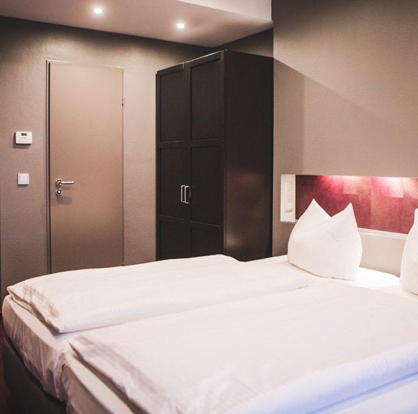 Das Bett im Business Doppelzimmer