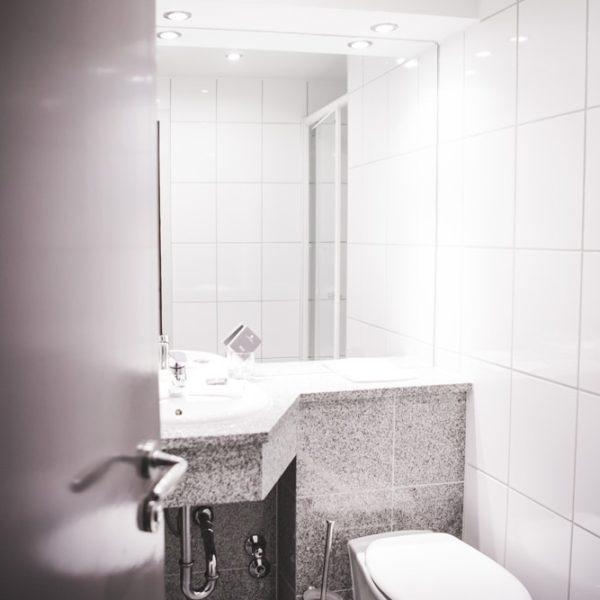 Das WC im Economy Doppelzimmer
