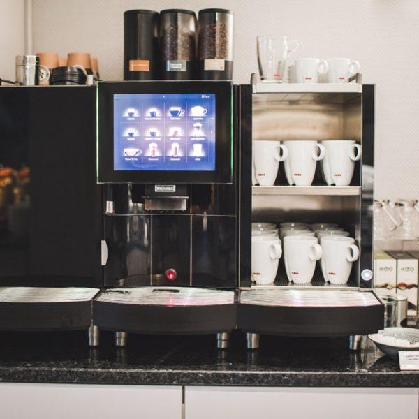 Kaffeespezialitäten beim Frühstück