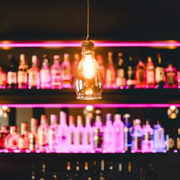 Beleuchtung an der Theke