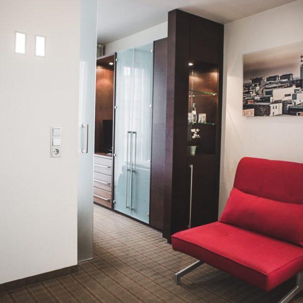 Der Zimmerdurchgang in der Suite